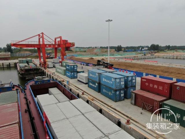 周口中心港集装箱航线举行首航启动仪式-2.jpg