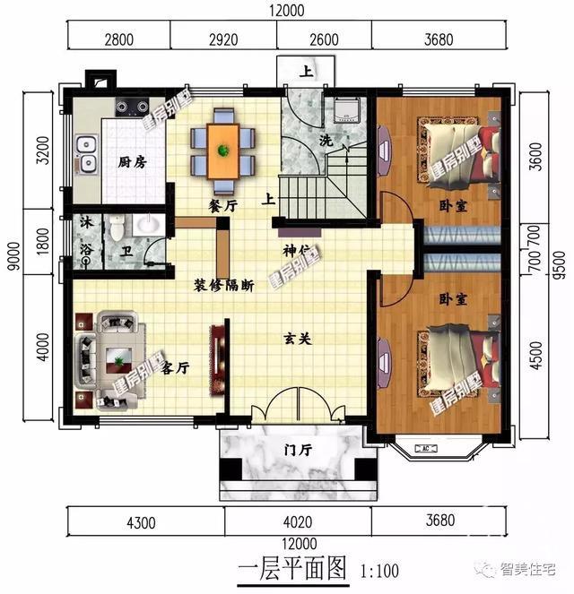 面宽12米的两栋农村自建房,30万就能让你实现别墅梦-2.jpg