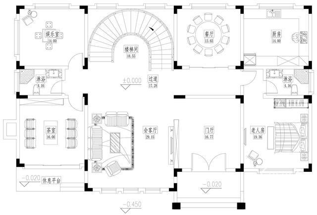 二层别墅欧式别墅设计图纸-2.jpg
