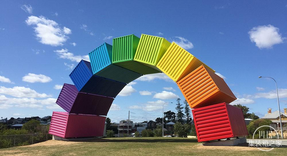 集装箱彩虹这个结构看起来异想天开却不得不佩服艺术家的想象-2.jpg