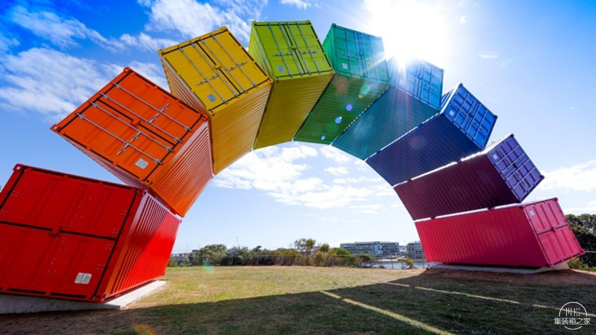 集装箱彩虹这个结构看起来异想天开却不得不佩服艺术家的想象-3.jpg