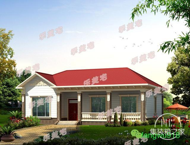 精致一层农村自建别墅设计图,布局合理,造价20万以内-1.jpg