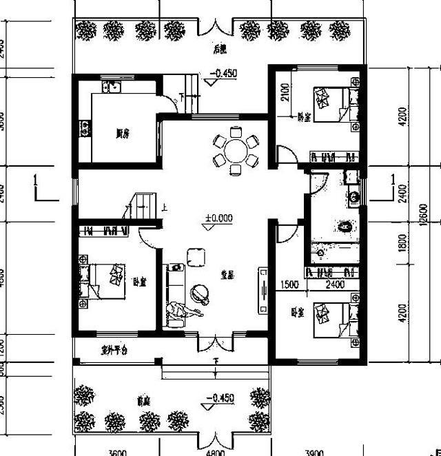 精致一层农村自建别墅设计图,布局合理,造价20万以内-4.jpg