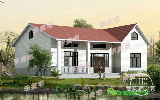 精致一层农村自建别墅设计图,布局合理,造价20万以内-3.jpg