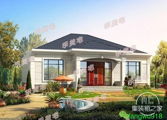 精致一层农村自建别墅设计图,布局合理,造价20万以内-5.jpg