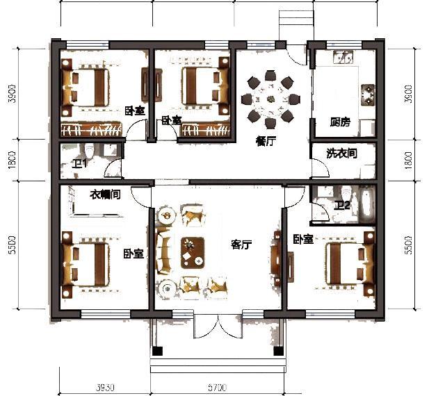 精致一层农村自建别墅设计图,布局合理,造价20万以内-6.jpg