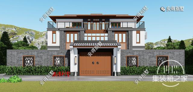 5款精美的中式别墅设计,新颖大气、实用舒适,效果图+平面图-1.jpg