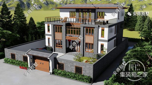 5款精美的中式别墅设计,新颖大气、实用舒适,效果图+平面图-2.jpg