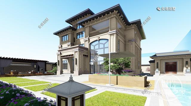 5款精美的中式别墅设计,新颖大气、实用舒适,效果图+平面图-9.jpg