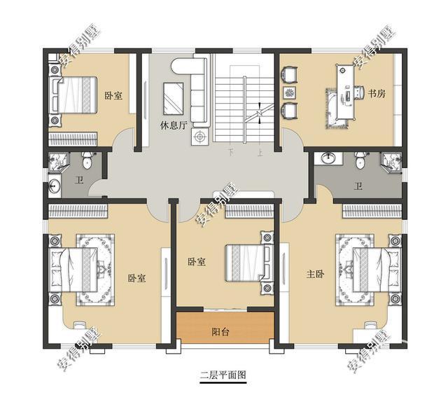 5款精美的中式别墅设计,新颖大气、实用舒适,效果图+平面图-7.jpg