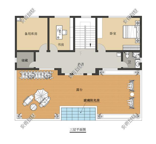 5款精美的中式别墅设计,新颖大气、实用舒适,效果图+平面图-8.jpg
