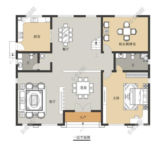 5款精美的中式别墅设计,新颖大气、实用舒适,效果图+平面图-6.jpg
