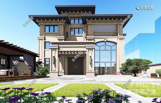 5款精美的中式别墅设计,新颖大气、实用舒适,效果图+平面图-10.jpg
