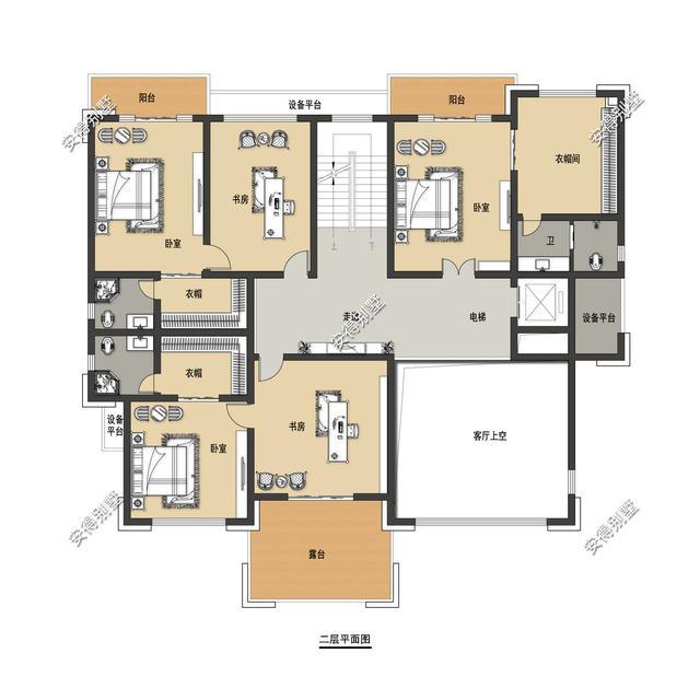 5款精美的中式别墅设计,新颖大气、实用舒适,效果图+平面图-14.jpg