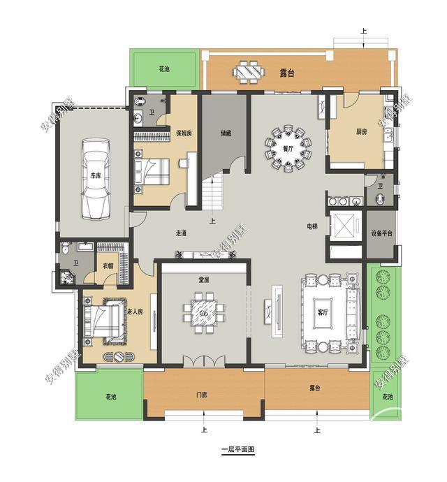 5款精美的中式别墅设计,新颖大气、实用舒适,效果图+平面图-13.jpg
