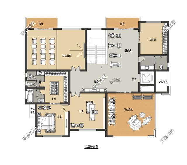 5款精美的中式别墅设计,新颖大气、实用舒适,效果图+平面图-15.jpg