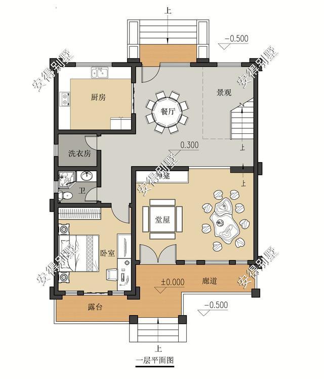 5款精美的中式别墅设计,新颖大气、实用舒适,效果图+平面图-19.jpg