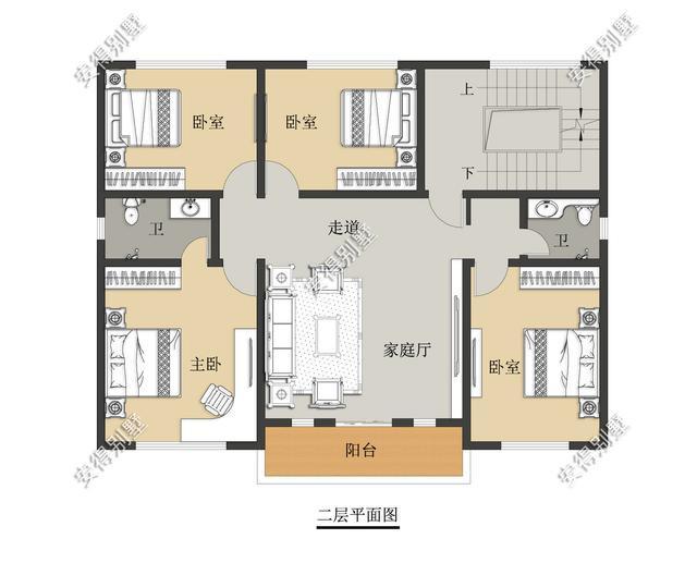 5款精美的中式别墅设计,新颖大气、实用舒适,效果图+平面图-27.jpg