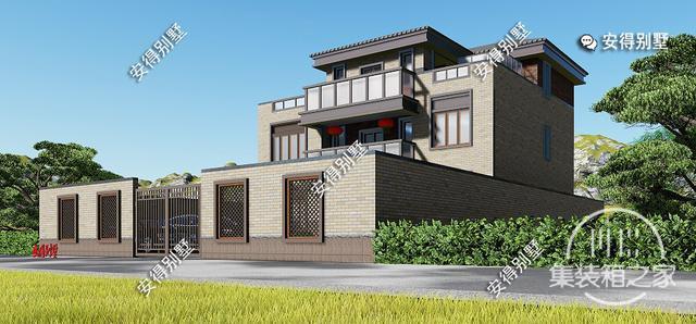 5款精美的中式别墅设计,新颖大气、实用舒适,效果图+平面图-24.jpg