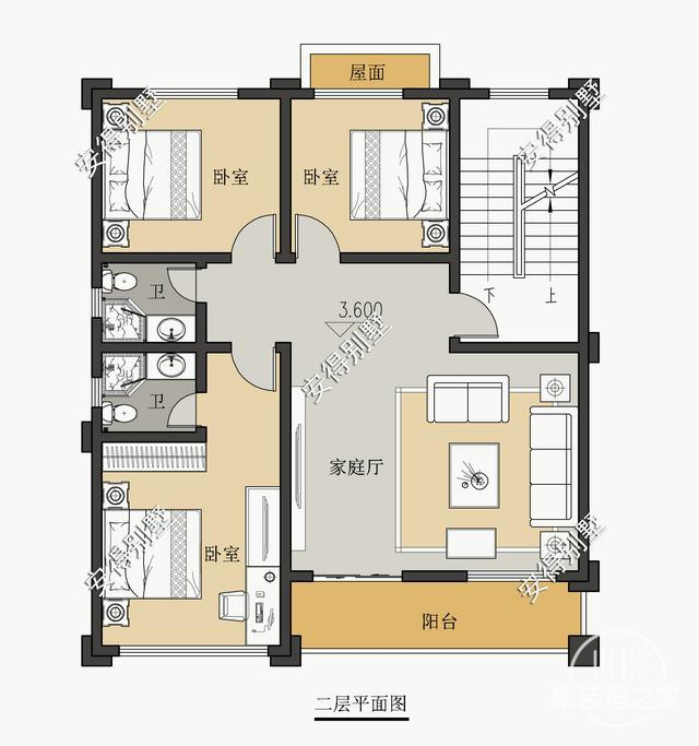 5款精美的中式别墅设计,新颖大气、实用舒适,效果图+平面图-20.jpg