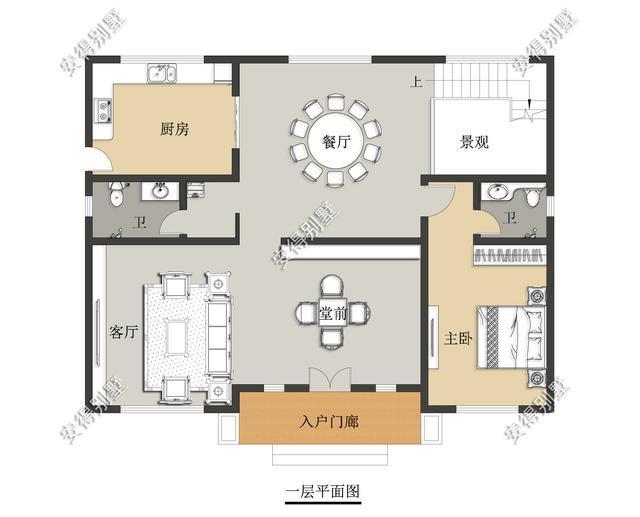 5款精美的中式别墅设计,新颖大气、实用舒适,效果图+平面图-26.jpg