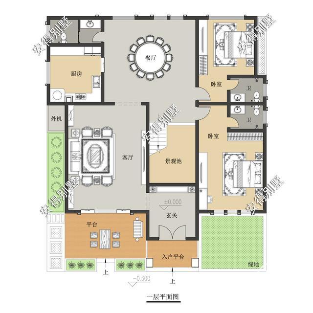 5款精美的中式别墅设计,新颖大气、实用舒适,效果图+平面图-32.jpg