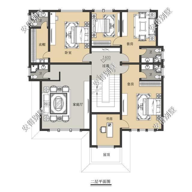 5款精美的中式别墅设计,新颖大气、实用舒适,效果图+平面图-33.jpg