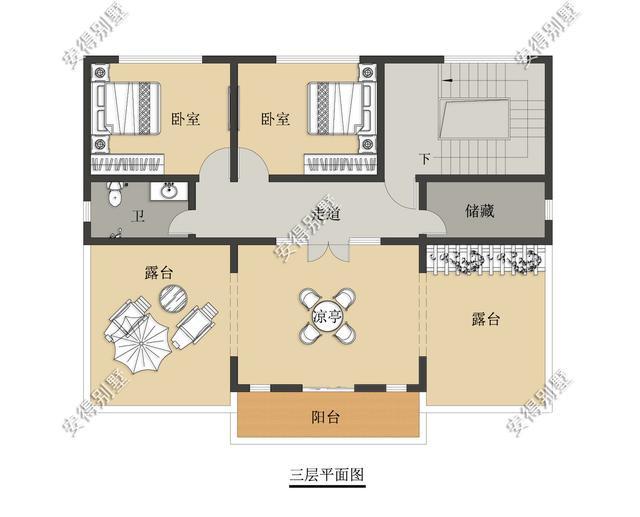 5款精美的中式别墅设计,新颖大气、实用舒适,效果图+平面图-28.jpg