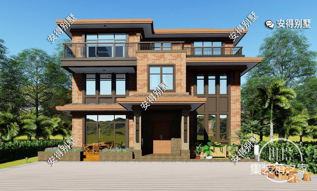 5款精美的中式别墅设计,新颖大气、实用舒适,效果图+平面图-30.jpg
