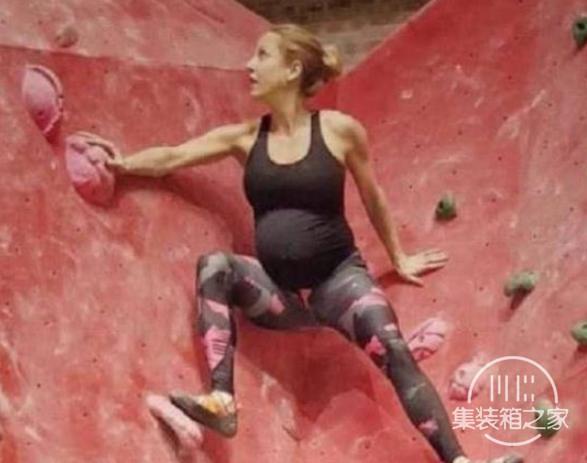 瑞典女子怀孕后大量运动,每天攀岩倒立,看着肚子就让人担心-2.jpg