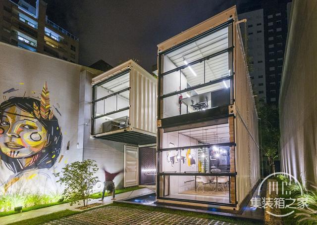 酷炫工业风 模块与美学并存的巴西集装箱可持续办公建筑设计欣赏-1.jpg