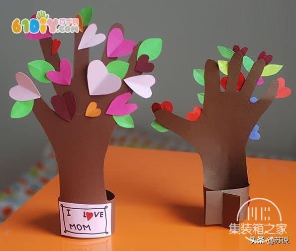 创意幼儿园儿童手工DIY五指树,纸艺教程,宝妈幼师文案亲子必备-1.jpg