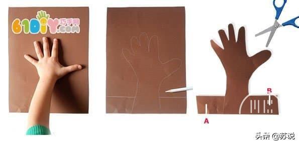 创意幼儿园儿童手工DIY五指树,纸艺教程,宝妈幼师文案亲子必备-3.jpg
