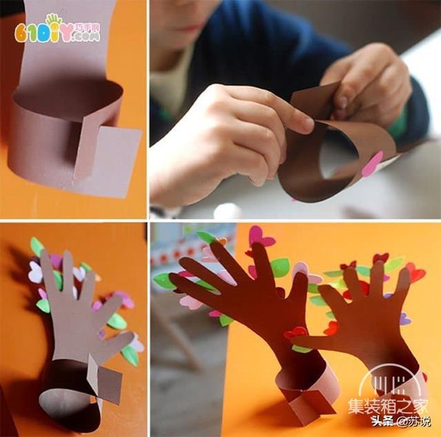 创意幼儿园儿童手工DIY五指树,纸艺教程,宝妈幼师文案亲子必备-5.jpg