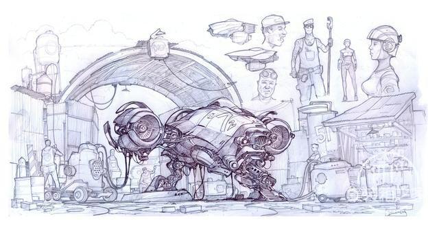 一组幻想与蒸汽朋克概念CG艺术插画作品-2.jpg