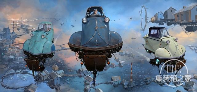 一组幻想与蒸汽朋克概念CG艺术插画作品-3.jpg