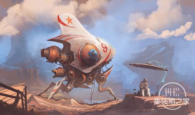 一组幻想与蒸汽朋克概念CG艺术插画作品-9.jpg
