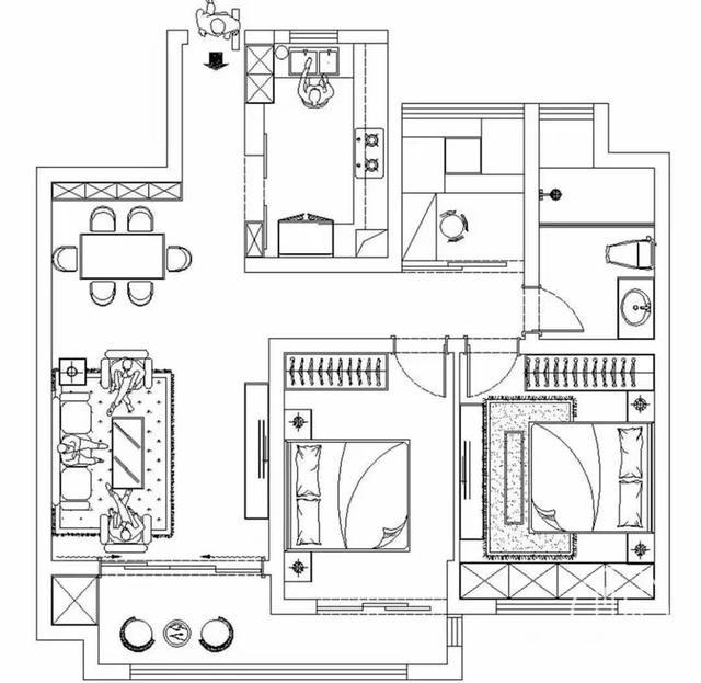 照着样板间装房子,不光省了5000设计费,连费用都低了1万多-1.jpg