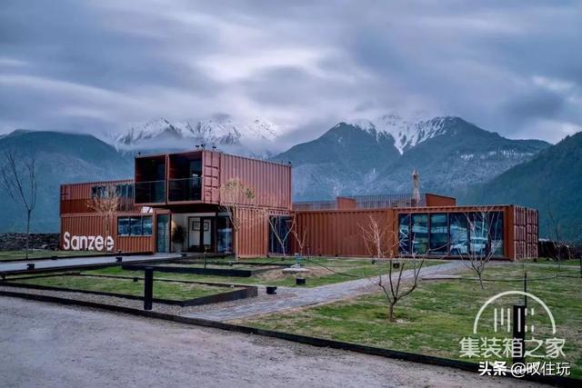 种草!雪山下的栖息地,工业风集装箱酒店,一百亩百年桃花围绕你-8.jpg