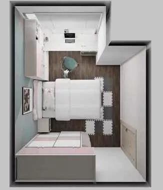 8.4㎡小房间,怎么变成客房、儿童房兼储藏室-2.jpg