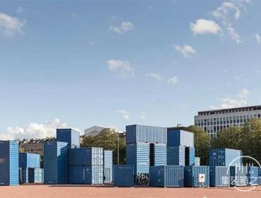 吊炸天的集装箱巨石阵-瑞士大型BIG艺术装置