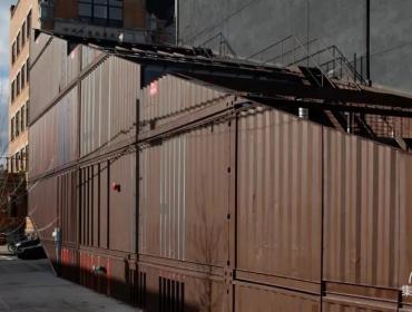 阶梯式对角线结构集装箱房屋