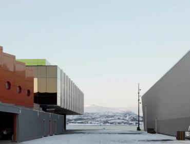 Holmen 集装箱渔场工业区在挪威北部