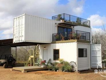 低碳经济的集装箱乡间度假屋