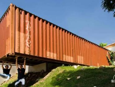 城市环境的雕塑集装箱