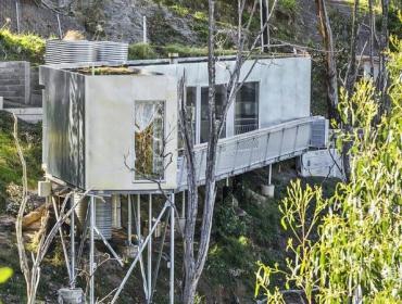 陡峭破上建集装箱别墅
