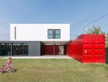 红白集装箱住宅