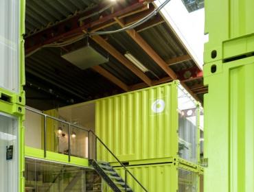 工厂里的集装箱创业园