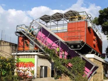 创意集装箱改造,文化生产区