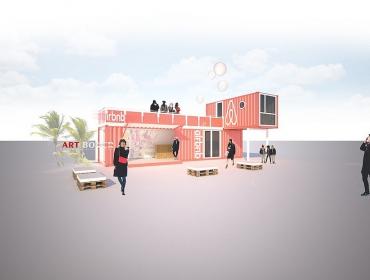 Airbnb社区移动推广集装箱概念体验中心
